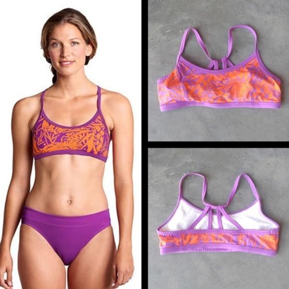 9432c445 Lands' End Swim   Lands End Aquaterra Floral Twistback Bikini Top 6 ...